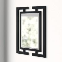 Зеркало в оригинальной черной металлической раме Уилфорд