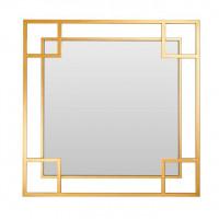 Квадратное зеркало в золотой металлической раме Вудбридж