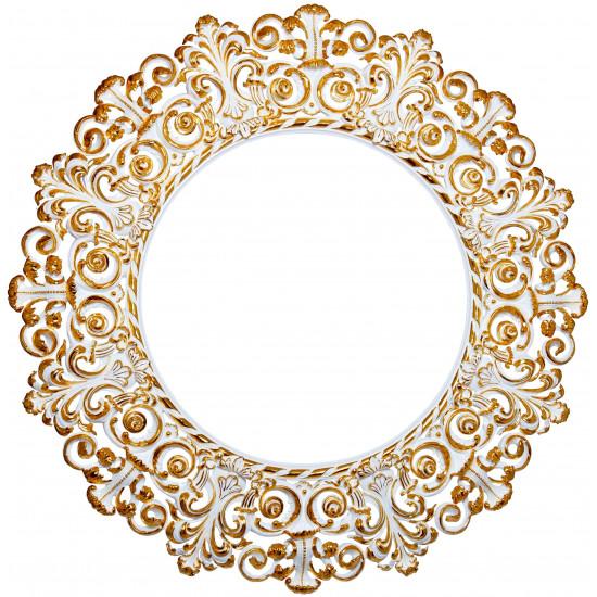 Круглое зеркало в багете «Адели» в интернет-магазине ROSESTAR фото