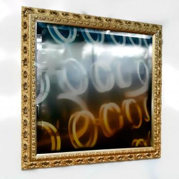 Зеркало настенное в багете «Августа» Золото