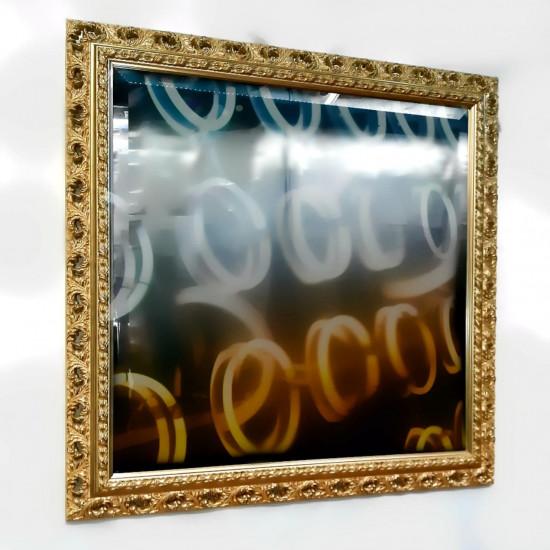 Зеркало настенное в багете «Августа» Золото в интернет-магазине ROSESTAR фото