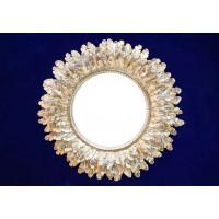 Круглое зеркало в багете «Перья»