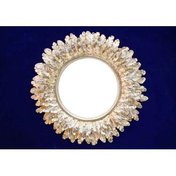 Круглое зеркало Перья