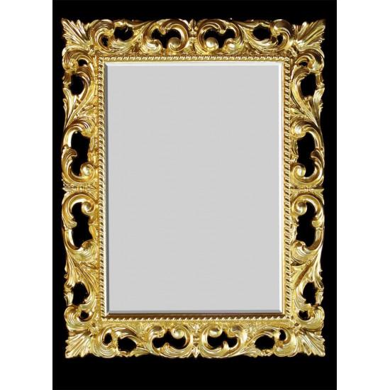 Зеркало прямоугольное настенное в золотой раме  «Луара»  в интернет-магазине ROSESTAR фото