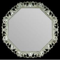 Восьмиугольное красивое зеркало в багете «Нанси»