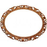Зеркало овальное настенное в багетной раме «Перпиньян»