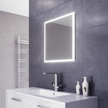 Квадратное зеркало с LED подсветкой Ализе