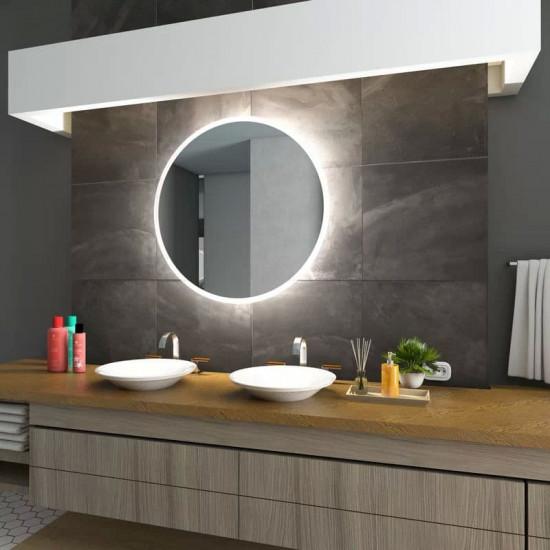Круглое зеркало с LED подсветкой Арена Холодный свет в интернет-магазине ROSESTAR фото
