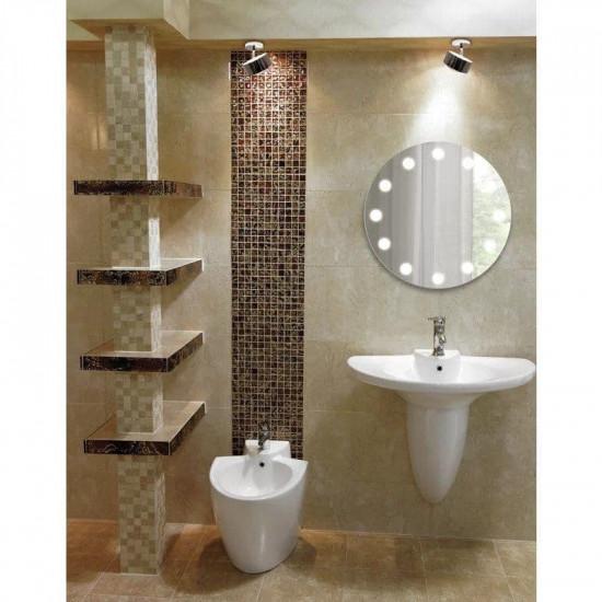 Круглое зеркало с LED подсветкой Бреннен в интернет-магазине ROSESTAR фото