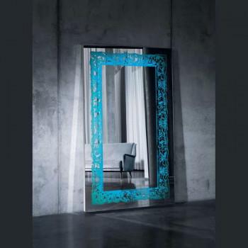 Большое напольное и настенное зеркало с LED подсветкой в полный рост Катрин