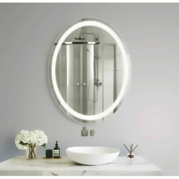 Овльное зеркало с LED подсветкой Hudson