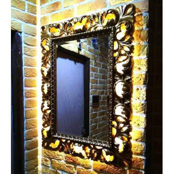 Зеркало с рамой и светодиодной подсветкой Status