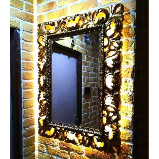 Зеркало в раме со светодиодной подсветкой Status