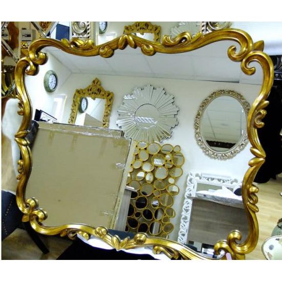 Зеркало настенное в золотой раме «Элегия» в интернет-магазине ROSESTAR фото