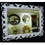Зеркало настенное в багетной раме «Джениель» Серебро в интернет-магазине ROSESTAR фото 1