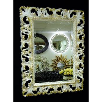 Зеркало в раме «Ингрид» Слоновая кость с Золотом