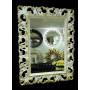 Зеркало в резной раме «Ингрид» Слоновая кость с Золотом в интернет-магазине ROSESTAR фото