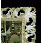 Зеркало в резной раме «Ингрид» Слоновая кость с Золотом в интернет-магазине ROSESTAR фото 1