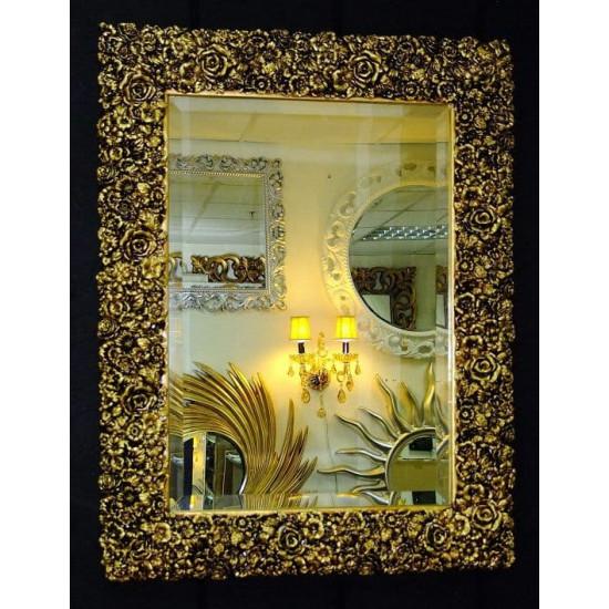 Зеркало настенное в багетной раме «Изабелла» Чернёное Золото в интернет-магазине ROSESTAR фото