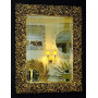 Зеркало настенное в багетной раме «Изабелла» Чернёное Золото