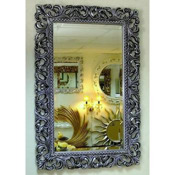Зеркало в раме «Виола» Чернёное Серебро
