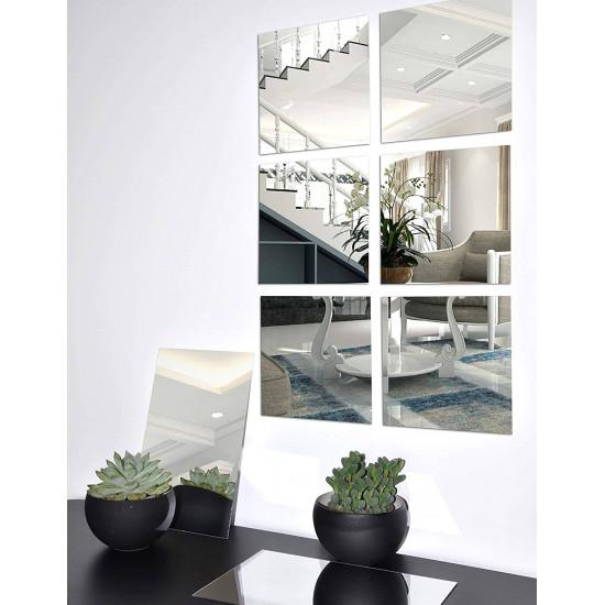 Зеркальное панно из шести квадратных зеркал в интернет-магазине ROSESTAR фото