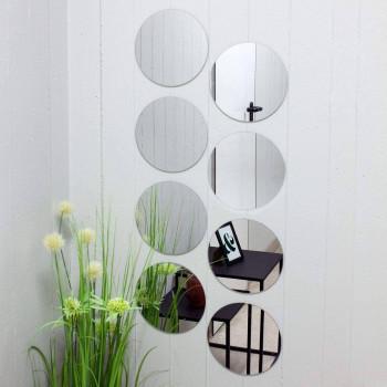 Зеркальное панно из восьми круглых зеркал
