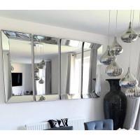 Зеркальное панно из 4-х частей в зеркальной раме