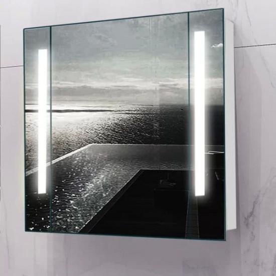Зеркальный шкаф в ванную навесной с подсветкой «Сиена» 80 в интернет-магазине ROSESTAR фото