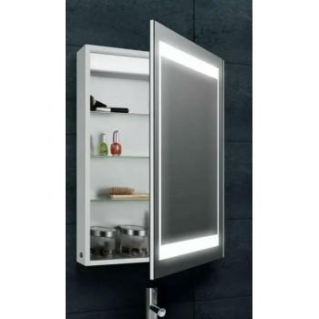 Зеркальный шкаф в ванную навесной с LED-подсветкой «Оттава» 50