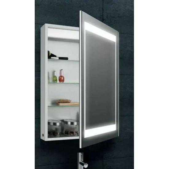 Зеркальный шкаф в ванную навесной с LED-подсветкой «Оттава» 50 в интернет-магазине ROSESTAR фото