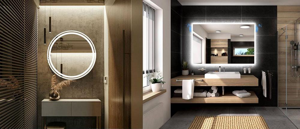 Зеркала с подсветкой в ванной комнате